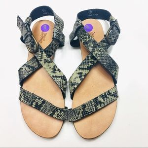 Urban Outfitters Snake Print Sandals Size 8